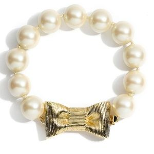 Kate Spade All Wrapped Up Pearl Bow Bracelet